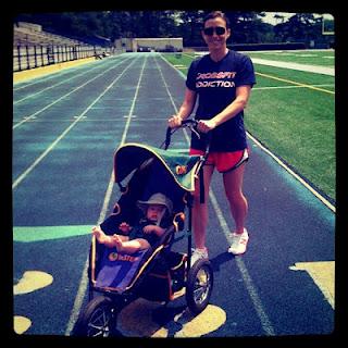Jogging Stroller at track