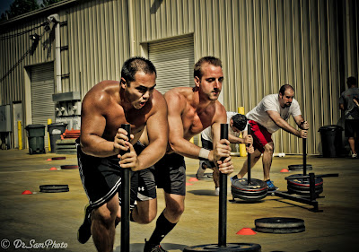 Crossfit sled pushes