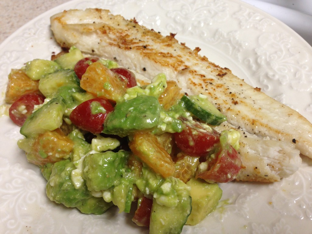 fish with spring salsa
