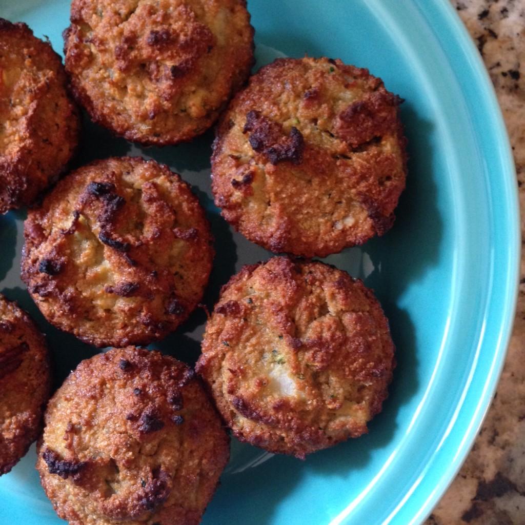 paleo pear zucchini muffins