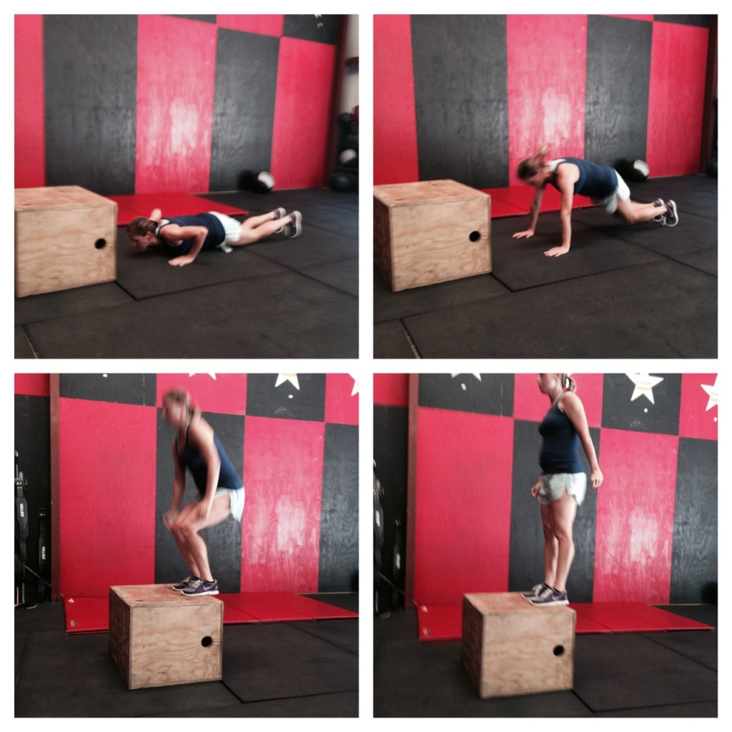 pregnant burpee box jump progression