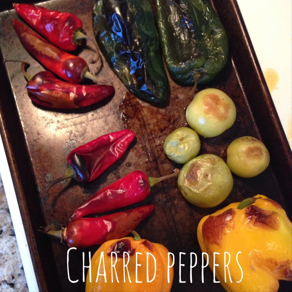 charred peppers