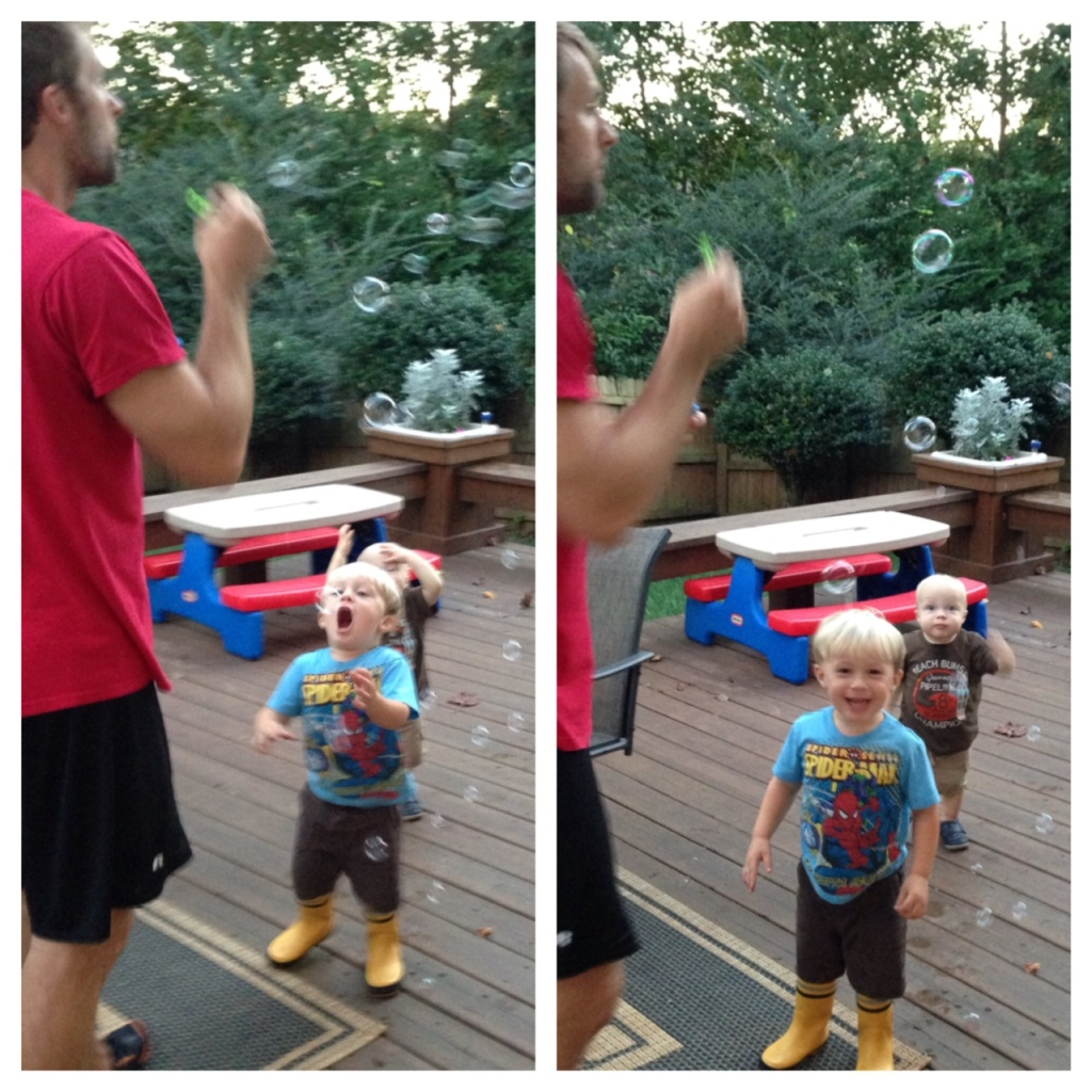 james and boys bubbles