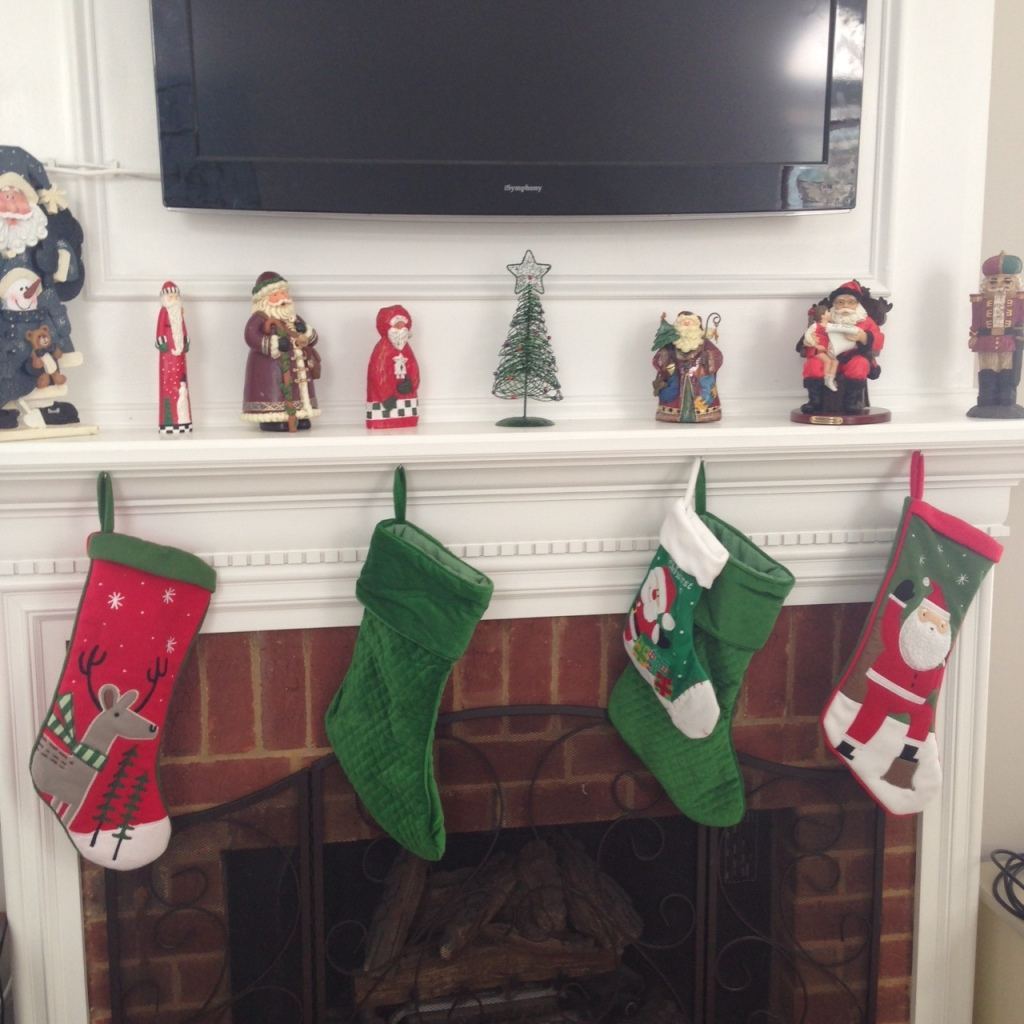 christmas mantle 2014