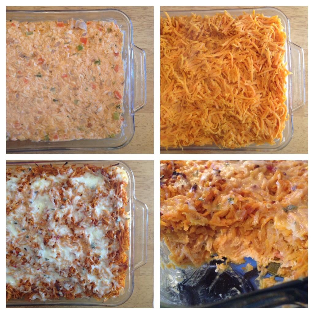 collage buff chicken casserole