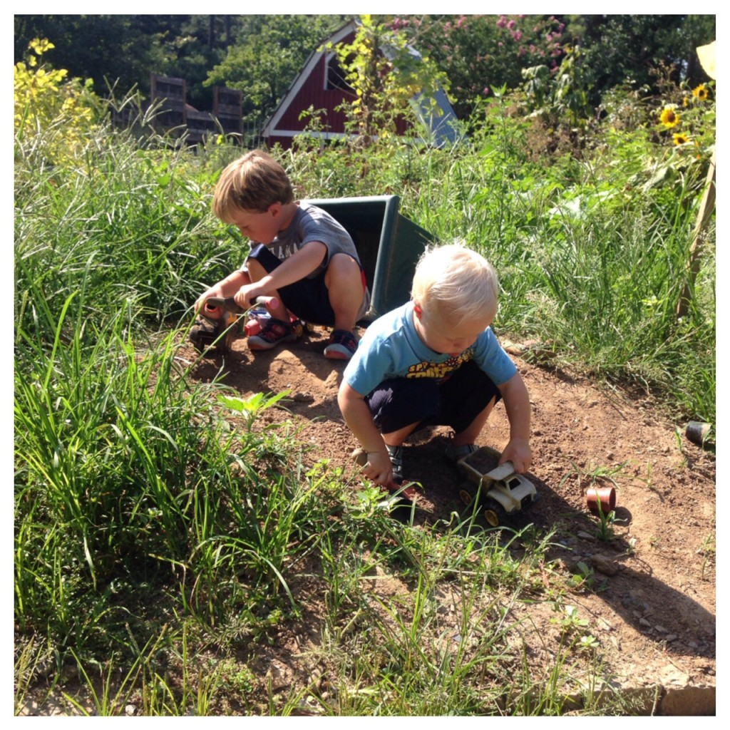 boys in dirt Smith Gilbert Gardens