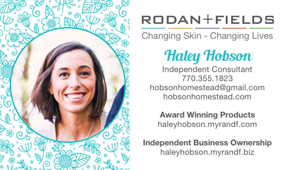 R+F business card