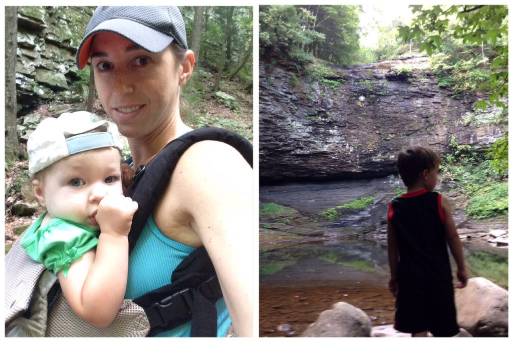 clouldland canyon hike with kids