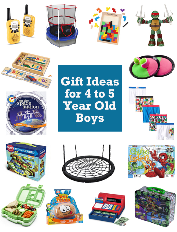 Best Gift Ideas for 4 and 5 Year Old Boys