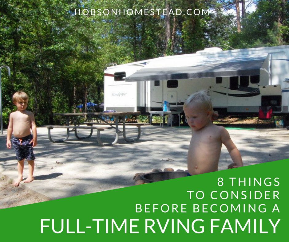 full-time RVing family