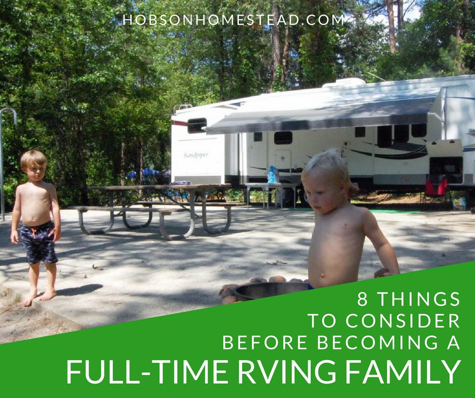 full-time RVing family