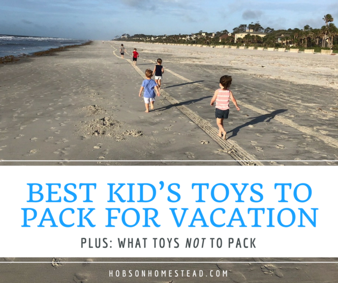 kid's toys to pack for vacation