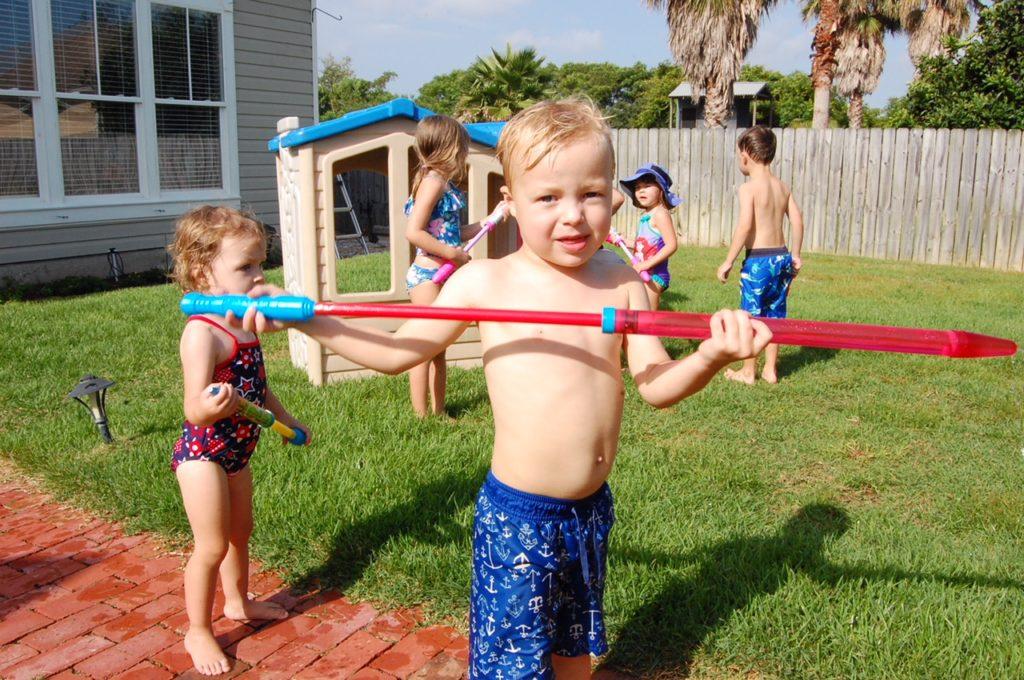 summer birthday party ideas water gun fight