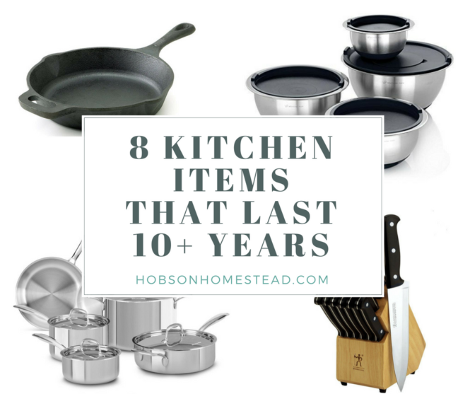 kitchen items that last