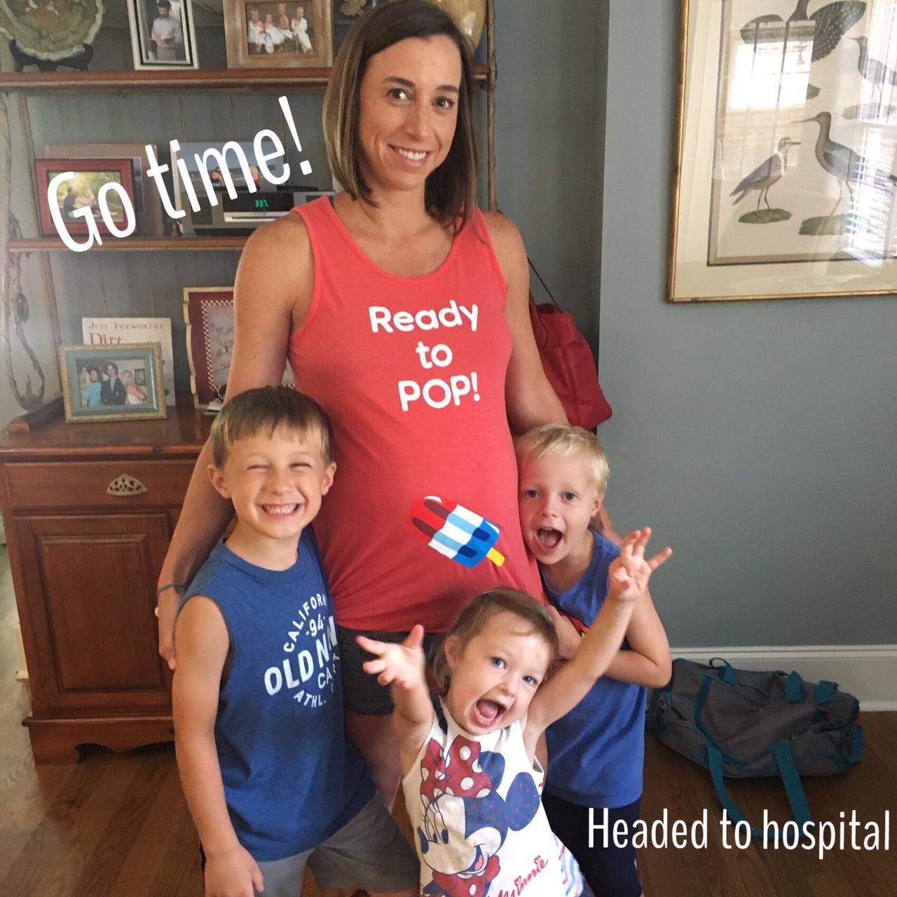 birth story heading to hospital