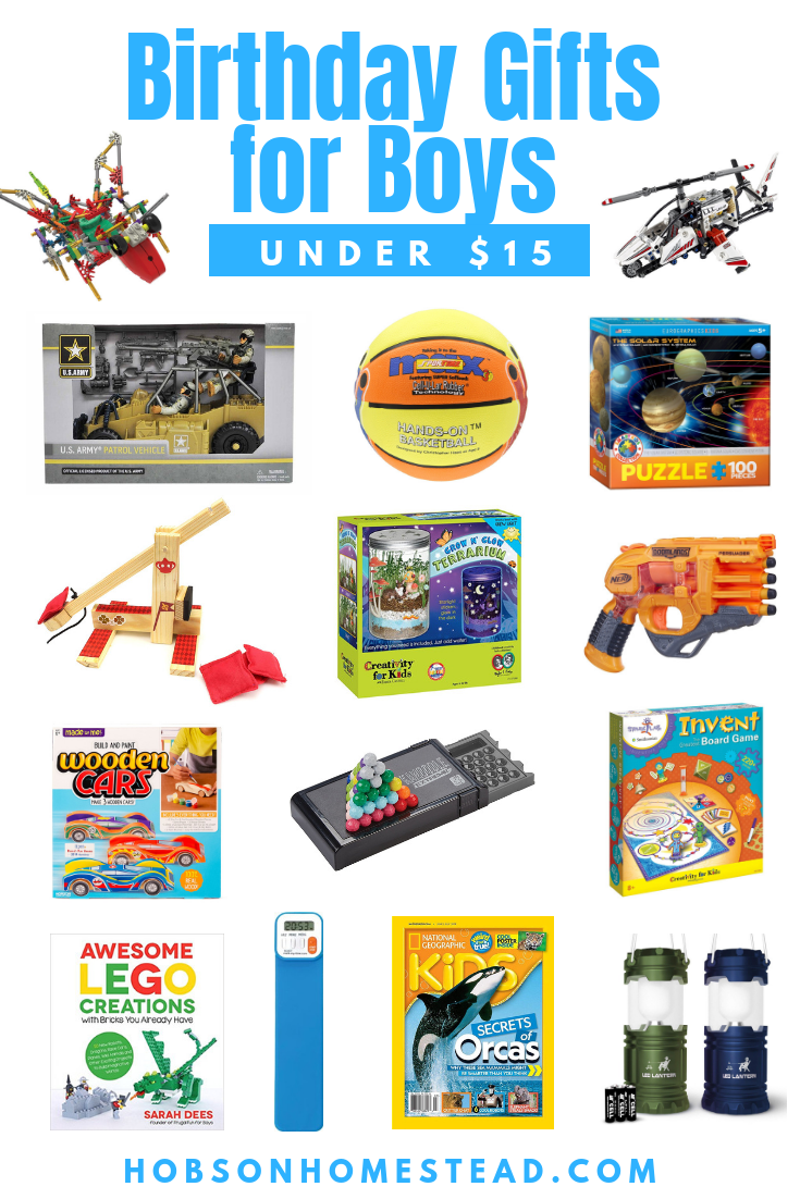 birthday gifts for boys under $15