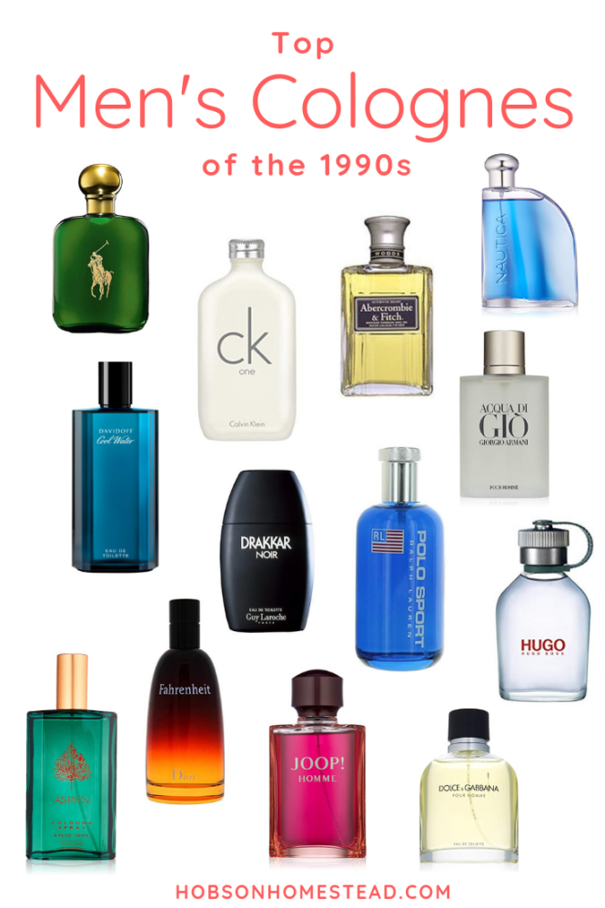 men's colognes of 1990s, 90s colognes