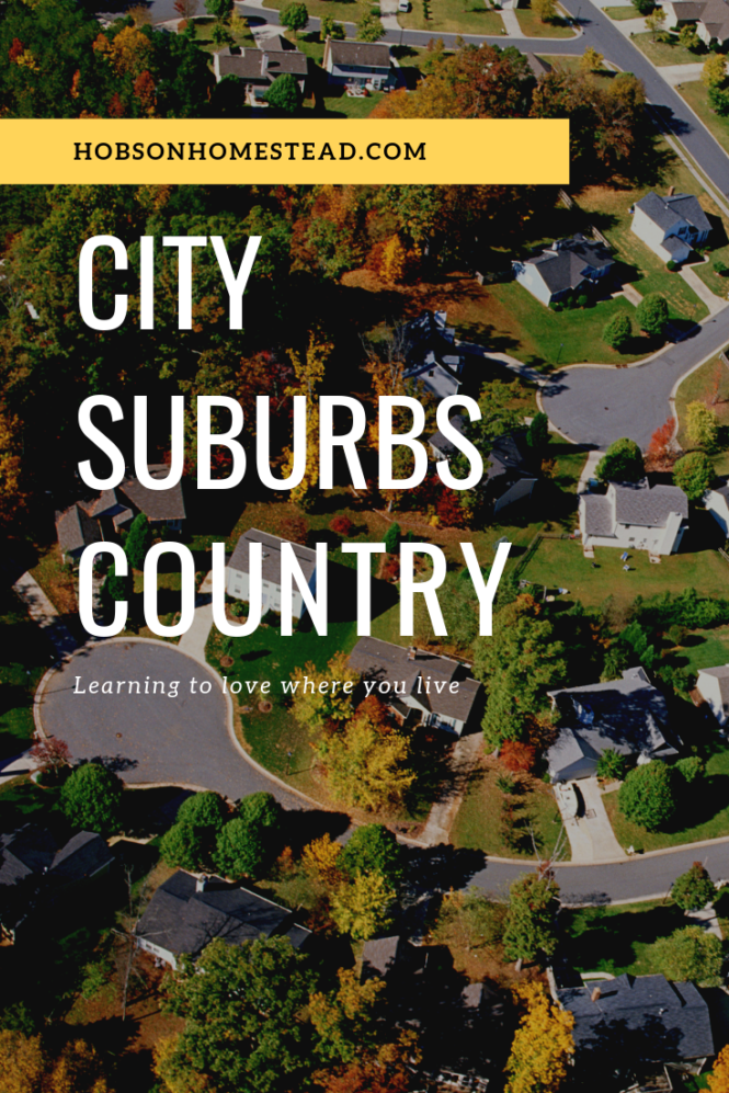 City Suburbs Country