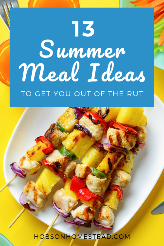 13 summer meal ideas