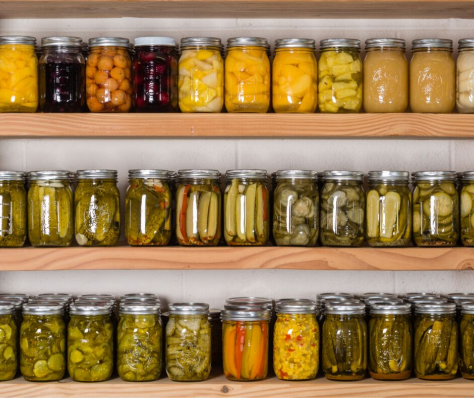 canning to reduce food waste