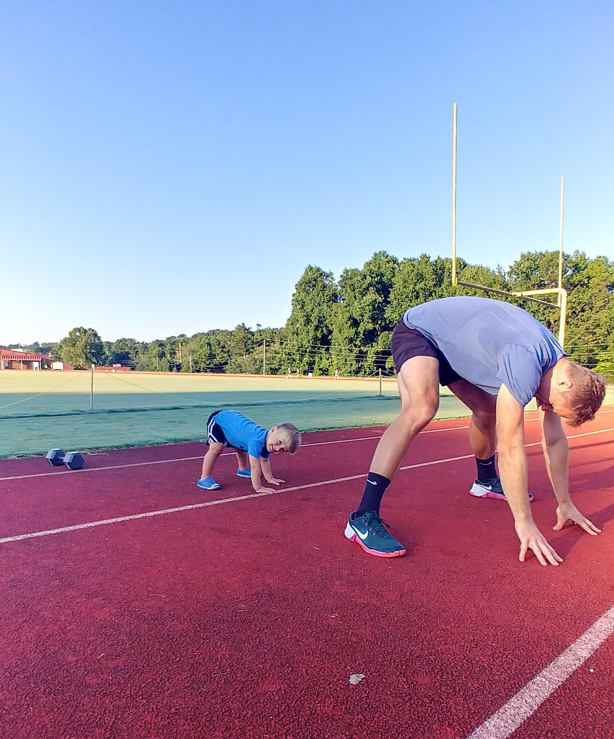 track stretching