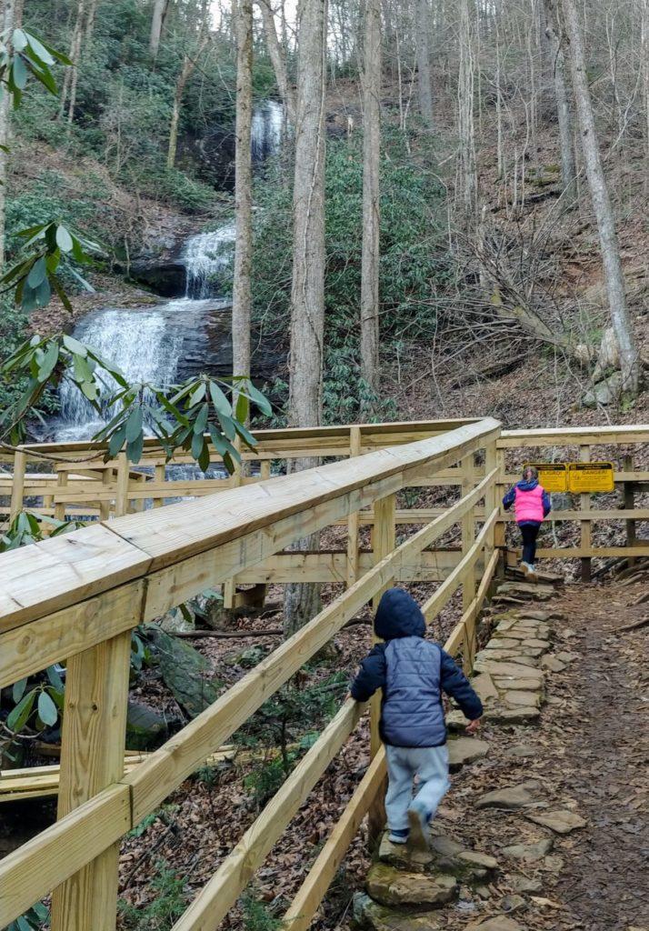 desoto falls trail hiking with kids