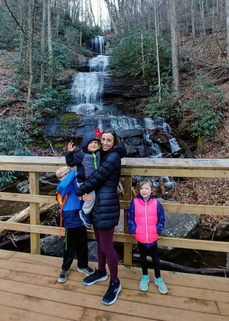 desoto falls trail family hike
