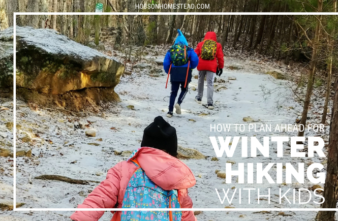 winter hiking kids