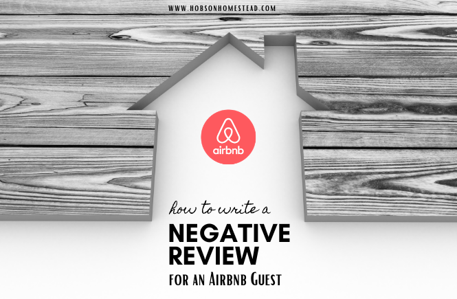 negative airbnb review