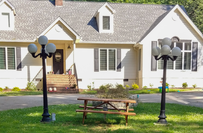 front yard people picnic table