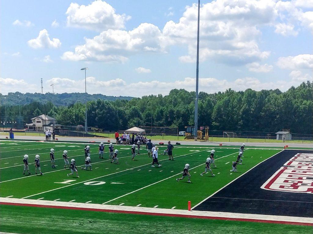 youth football warmup